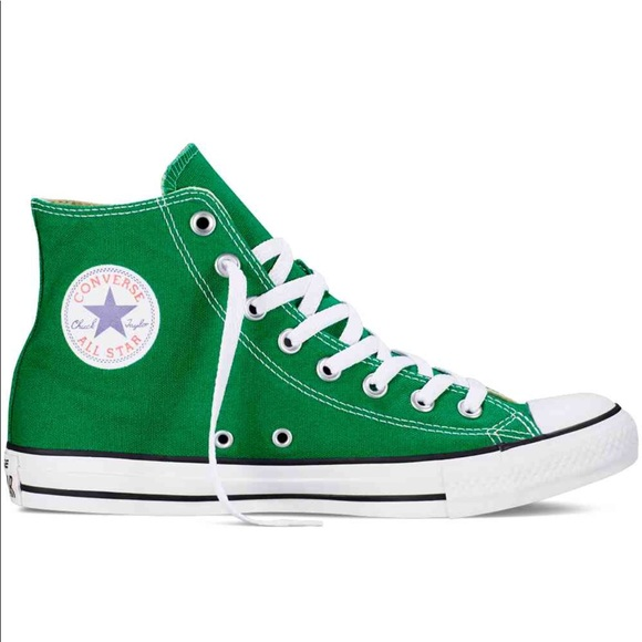 5f1637abf29f Converse Shoes - Converse Chuck Taylor All Star Green High Tops